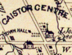 Basics of Caistor Centre from Page\'s 1876 map