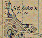 Basics of St. Johns from Page\'s 1876 map