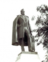 Statue of William Hamilton Merritt in downtown St. Catharines, Ontario.